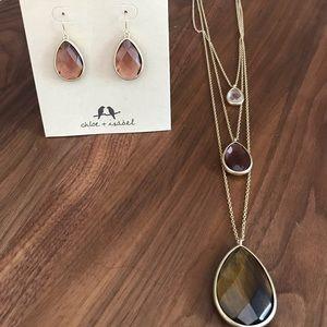 Chloe + Isabel Minaret Earring + Necklace Set